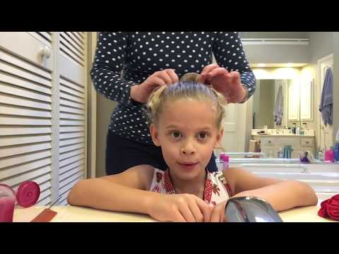 Isabelle's gymnastics hair tutorial!