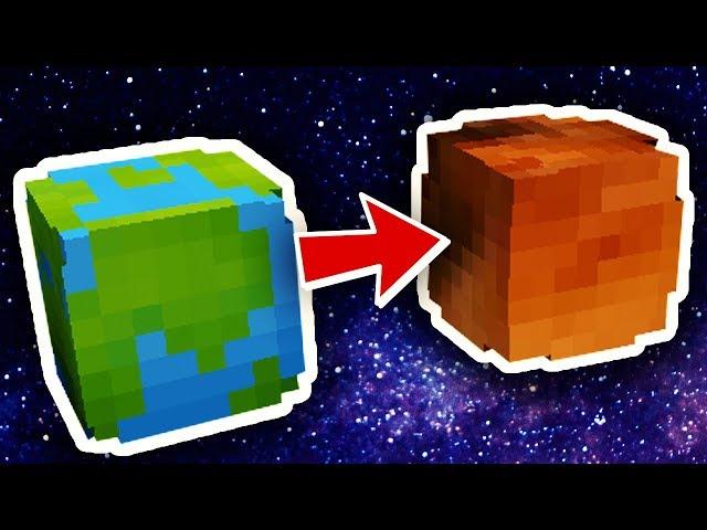 מפת מיינקראפט   פארקור בין כוכבי לכת!