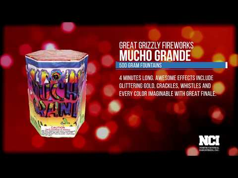 Mucho Grande (500 GRAM FOUNTAINS) www. great grizzly .com