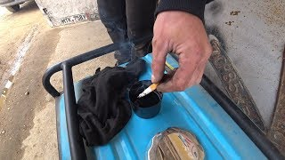 Бензин не загорается от сигареты!
