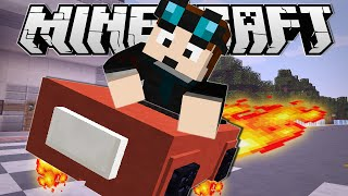 Minecraft | DRIVING A HOVERCAR!! | Custom Command