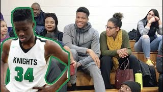 GREEK FREAK Comes To Watch His LITTLE BRO! Alex Antetokounmpo Is UP NEXT
