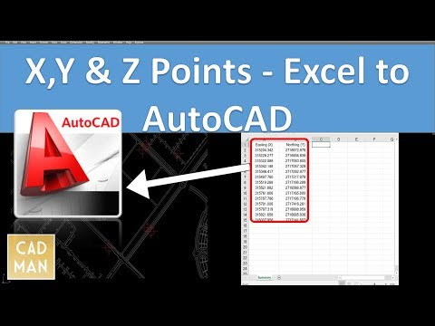 Excel to AutoCAD - Coordinates Points (X and Y)