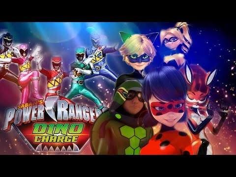 Power Rangers Dino Super Charge + Miraculous Ladybug ! | LENA EVERY DAY