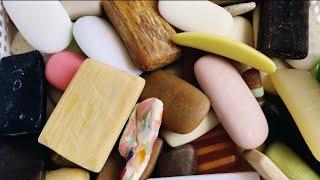 ASMR SOAP # 68 /Cutting soap pieces / Резка обмылочков