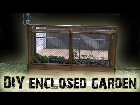 Diy Enclosed Cedar Raised Bed Garden Project Youtube