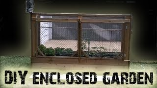 Diy Enclosed Cedar Raised Bed Garden Project