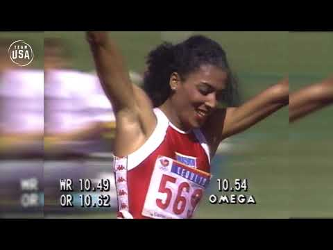 Florence Griffith Joyner Sprints To Gold In Seoul   Gold Medal Moments Presented By HERSHEY'S
