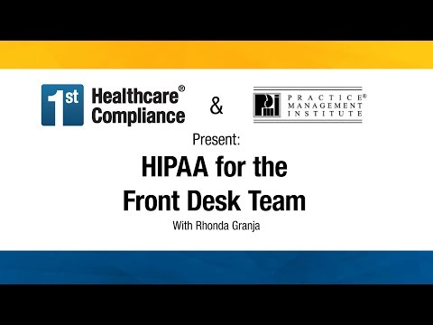 HIPAA for the Front Desk Team