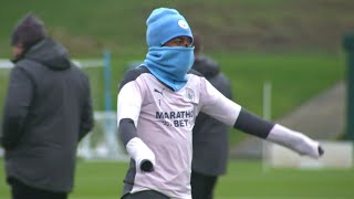 Man City Players Train Ahead Of Marseille Champions League Clash