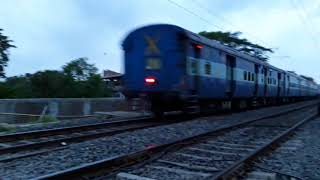 Agniveena express at Begompur Station Indian Super Heroes Train