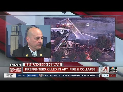 KC fire chief fights tears ID'ing firefighters killed in blaze