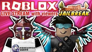 🔴 ROBLOX: PLAYING IN VIP SERVERS WITH VIEWERS! 🔴 PLAYING JAILBREAK, PRISON ROYALE, AND MORE!