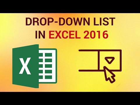 How To Create A Drop Down List In Excel 2016