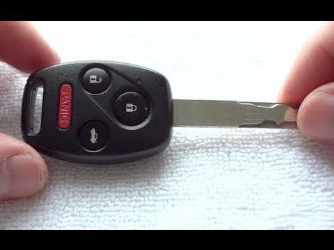 Honda Key Battery Replacement >> How To Replace Honda Accord Civic Cross Tour Pilot Key Fob Battery Change Cr1616