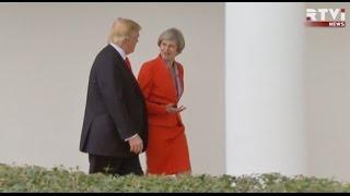 «Отменять санкции против России преждевременно». Переговоры Дональда Трампа с Терезой Мэй