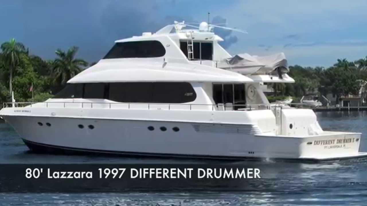 sold - 80 u0026 39  lazzara motor yacht different drummer ii