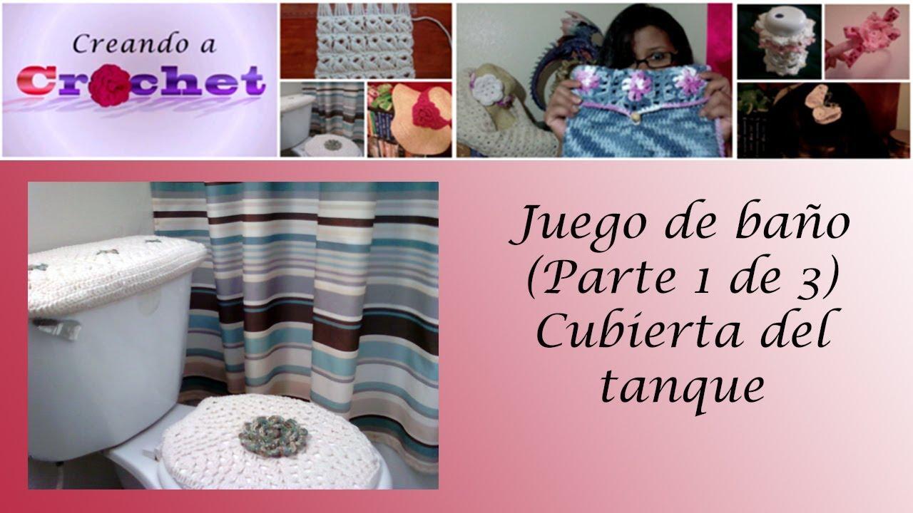 Set De Baño A Crochet Patrones: de 3): Cubierta del tanque – Tutorial de tejido crochet – YouTube
