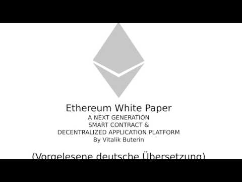 Ethereum whitepaper - Übersetzung deutsch