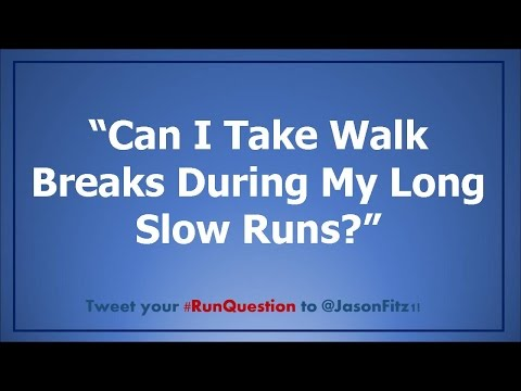 Do walk breaks defeat the purpose of long runs?