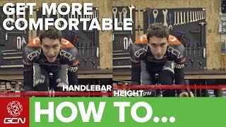 How To Make Your Road Bike More Comfortable