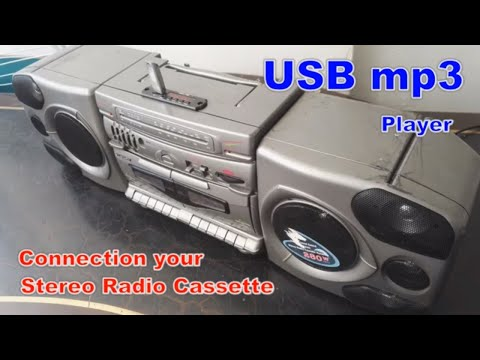 How To Make USB Mp3 Player At Home; Convert A Stereo Radio Cassette System Into USB SD Mp3 Player
