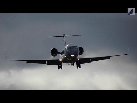 Nav Canada CRJ-200 (Flight Inspection) Missed Approach + Landing At YQB