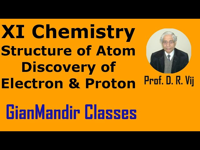 XI Chemistry | Structure of Atom | Discovery of Electron and Proton by Ruchi Ma'am