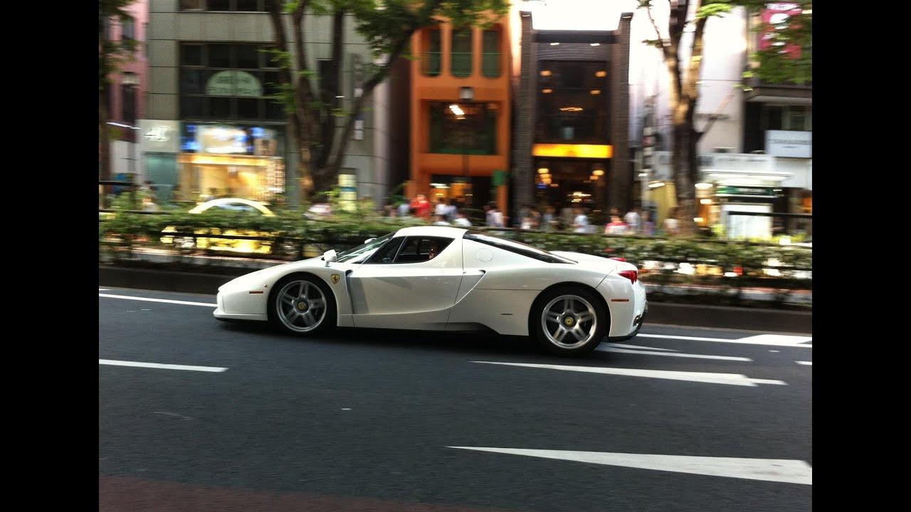 ferrari enzo departure w murcielago loud acceleration rev youtube - Ferrari Enzo 2013 White