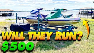 I Bought a Pair of Jet Skis for $500! They Worth It?