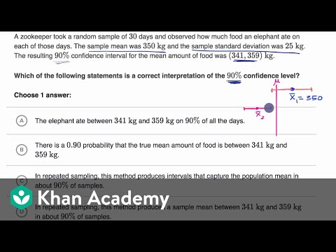Interpreting confidence intervals example