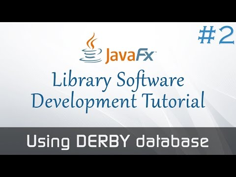 JavaFX Library Software From Scratch #2 : Using DERBY database