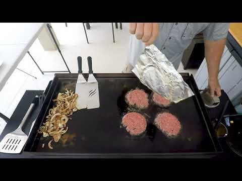 Blackstone Burger Press Kit Un-box To Make PATTY MELTS