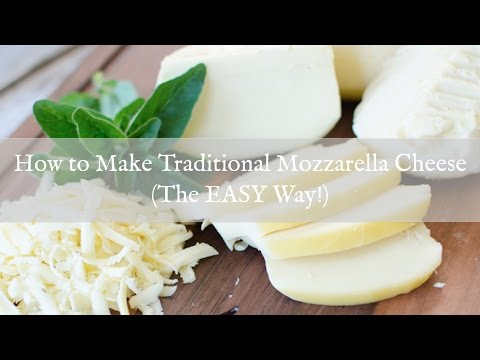 Pizza: How to Make Mozzarella Cheese