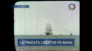 Canal 9 Bahía Blanca - LA FRAGATA LIBERTAD EN BAHIA BLANCA 1971