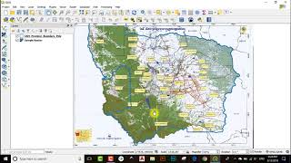 How to clip Raster in QGIS|Clipping Raster in QGIS