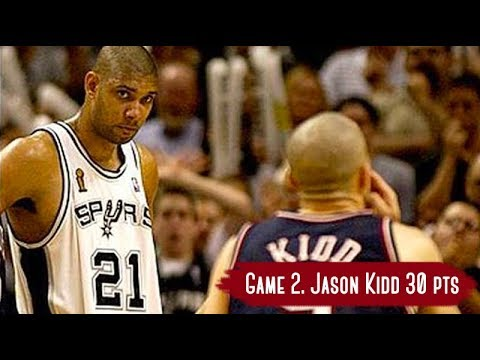 NBA Finals 2003. NJ Nets vs San Antonio Spurs - Game Highlights | Game 2 | Kidd 30 pts, Parker 21 HD