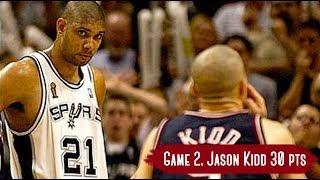 NBA Finals 2003. NJ Nets vs San Antonio Spurs - Game Highlights   Game 2   Kidd 30 pts, Parker 21 HD