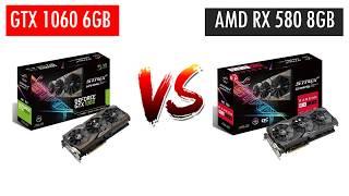 GTX 1060 6GB vs RX 580 8GB - AMD Ryzen 5 2600X - Benchmarks Comparison