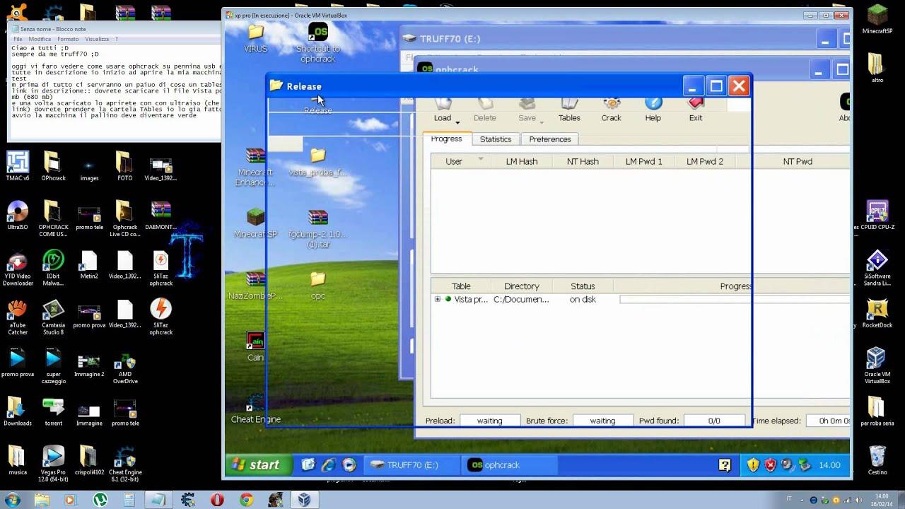 Ophcrack Usb portable(HD)