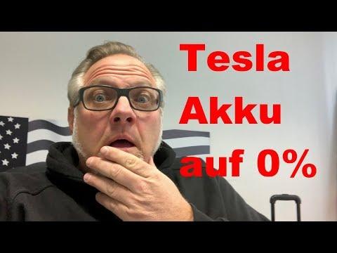 Wie schnell kann man einen Tesla Model S Akku auf 0% fahren ? Akku balancieren!