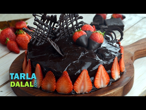Chocolate Truffle Cake, Eggless Chocolate Dessert Recipe By Tarla Dalal