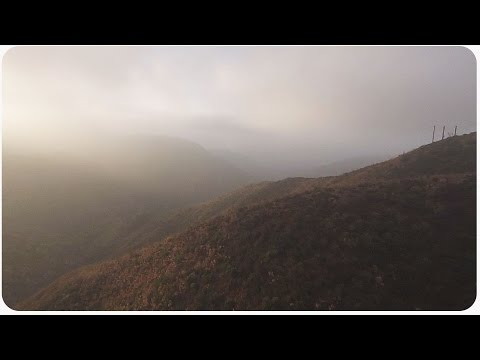Turbo Ace Matrix Quadcopter Drone Flies Through Mountain Mist