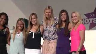 Maria Sharapova & Xperia Hot Shots interviews in Miami