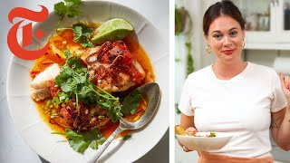 Alison Roman's Tomato-Poached Fish with Chile Oil | NYT Cooking