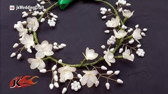 How to make a Wedding Floral Crown / Tiara  | JK Wedding Craft 134