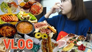 [VLOG] 먹방 브이로그 ft.강화도펜션 (바베큐, …