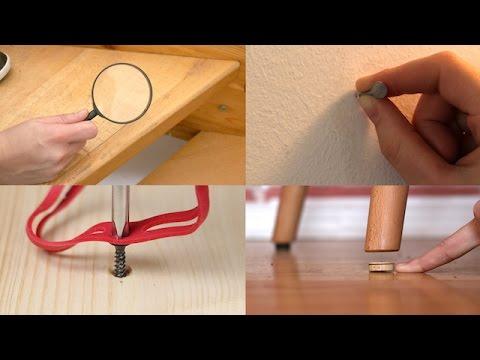 kratzer im holz kaputte schraube diese heimwerker tricks und tipps sind genial youtube. Black Bedroom Furniture Sets. Home Design Ideas