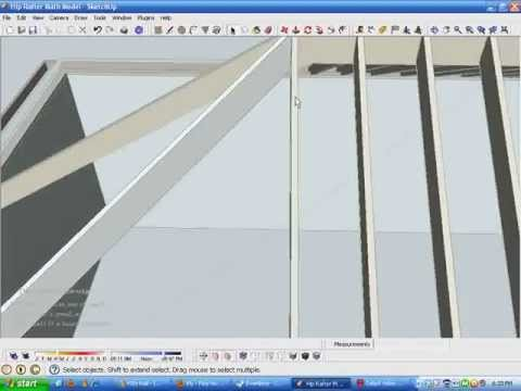 Model and Measure Hip Rafters De-mystified by Modeling in SketchUp Part A.wmv