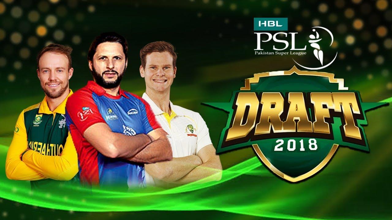 HBL PSL Player Draft 2018 | PSL Season 4